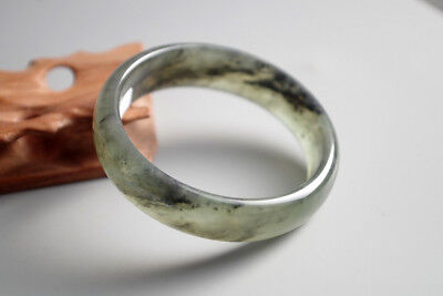 Certified Undyed exquisite Chinese natural jade hand carved jade bangle A-1136