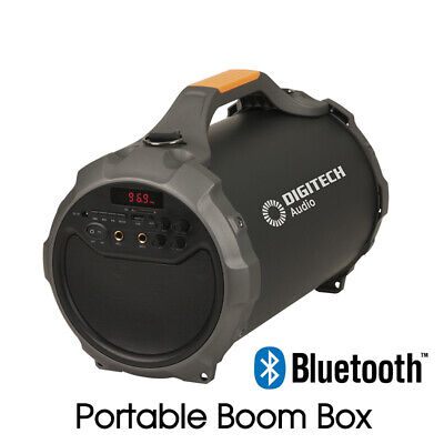 Portable Boom Box Speaker Bluetooth Wireless USB SD Card FM Radio Rechargeable