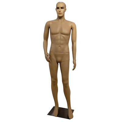 6FT Full Body Male Mannequin w/ Base Plastic Realistic Display Head Turns Dress