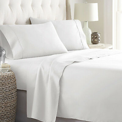 New Super Soft Silky Breathable 4 Piece Deep Pocket Bed Sheets