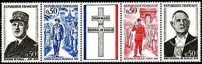 "FRANCE STAMP TIMBRE N° 1698A "" ANNIVERSAIRE MORT GENERAL DE GAULLE "" NEUF xx TTB"