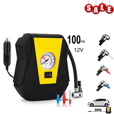 12V Electrical Car Tyre Inflator Pump Digital Portable Wheel Tyre Air Compressor