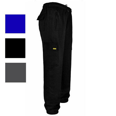 Mens Work Tracksuit Fleece Jogging Bottoms By SITE KING with Knee Pad Pockets 19