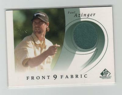Paul Azinger Upper Deck Front 9 Fabric Shirt Card F9S-Pa