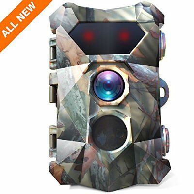 BanffCliff 16MP 1080P Trail Camera, 0.3s Fast Trigger Motion Activated Hunting