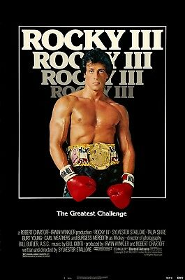 "ROCKY III Rocky 3 1982 Original SS 27x40"" US Movie Poster Sylvester Stallone"