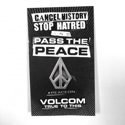 VOLCOM Unisex PASS THE PEACE Super kool Metal Pin - Brand New