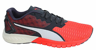 87abd53088a Puma Ignite Dual Black Red Lace Up Mens Sports Fitness Trainers 189094 01  P5B