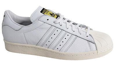 Adidas Originals Superstar 80s Deluxe Lace Up Leather Mens Trainers S75016 M9