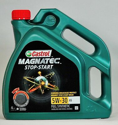 Castrol Magnatec 5W-30 A5 Fully Synthetic Stop-Start Gasoline And Diesel Engines