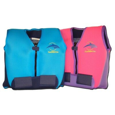 Konfidence Youth Jacket Buoyancy Float Aid Learn to Swim 8 Removable Floats