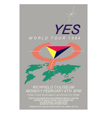 Yes 1984 Cleveland Concert Poster