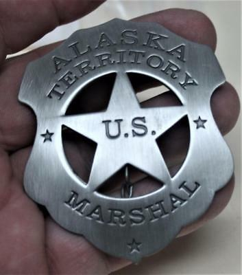 Reproduced Unusual -- US Marshal Alaska Territory Badge - Old West Style