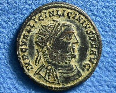 Emperor Licinius I 308-324 AD. Æ  Ancient Roman Imperial bronze coin.