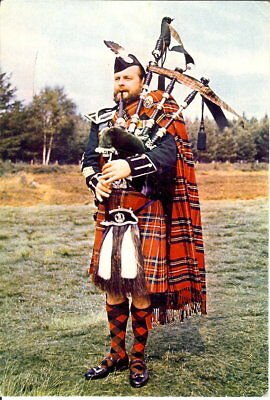 Scotland: Bagpiper - Queens Own Cameron Highlanders - Posted 1972