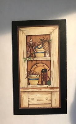 CUPBOARD Country kitchen cabinet saltbox house berry candle home decor wood sign