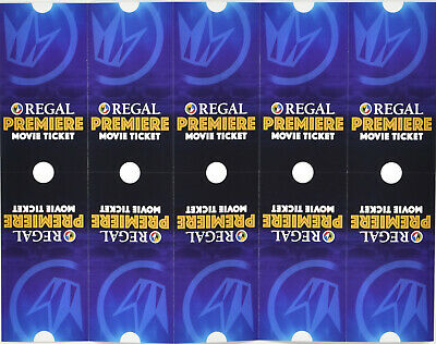 (10) Regal Cinemas Premiere Movie Tickets Passes Use Anytime No Expiration