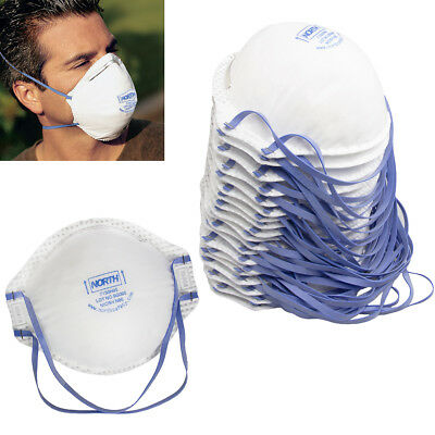 20pk Smoke Mold Dust Face Masks Niosh N95 Particulate Respirators With Valves