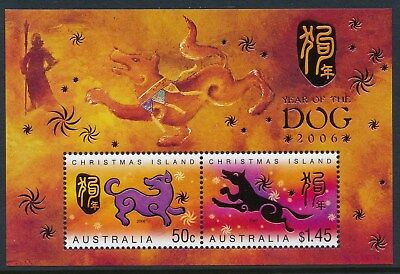 2006 Christmas Island Year Of The Dog Minisheet Fine Mint Mnh