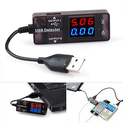 Current Voltage Dual Display Tester Meter Dual USB Charger Detector for iPhone 7