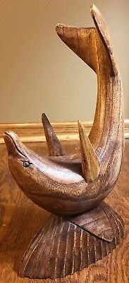 Wood Sculpted Dolphin