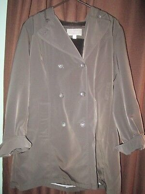 a9b4f145ed7 CROFT BARROW WOMENS Anorak Jacket Hooded Polyester Lined size S NEW ...