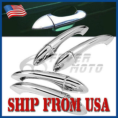 US Left Hand Drive Chrome ABS Side Door Handle Cover For 2000-2006 BMW X5 E53 FM