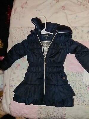116ff04f8 GIRLS DESIGNER LE CHIC pink ruffle winter coat. Size 86 - £7.30 ...