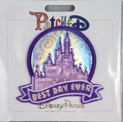 Disney Parks Patched Best Day Ever Castle Magic Kingdom Adhesive Patch - NEW