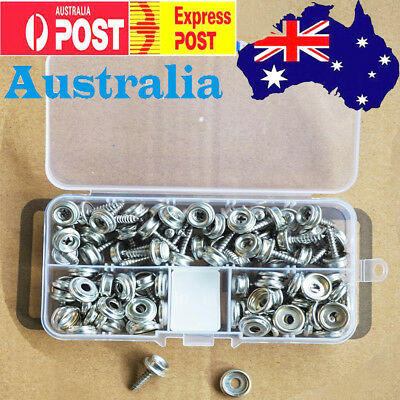 "Boat/caravan Canvas Snap 50 Set -0.6"",Stainless Steel Press Stud Screw Fasteners"