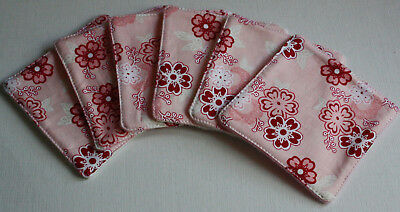 BABY WASH WIPES:REUSABLE,WASHABLE,ECO FRIENDLY.Blossom.Cotton/Fleece.Pack of 6.