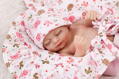 """Hot Real Like Reborn Doll Baby Girl Gentle Touch Soft Newborn Dolls Kid Gift 10"""""""