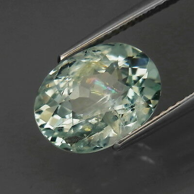 4.28Ct.100%Natural Platinum Blue Aquamarine (Beryl) Brazil Full Sparkling!