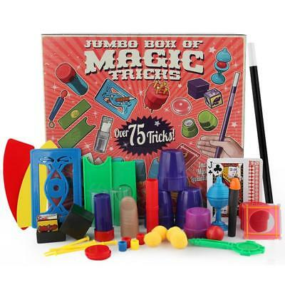 UK Kids Magic Set 17 Kinds Tricks Childrens Magician Trick Play Toys Game Gifts