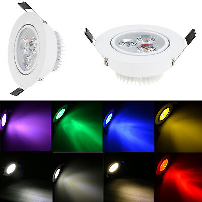 Multi Color Dimmable 3W LED Recessed Ceiling Down Light 25W Equivalent Lamp 220V