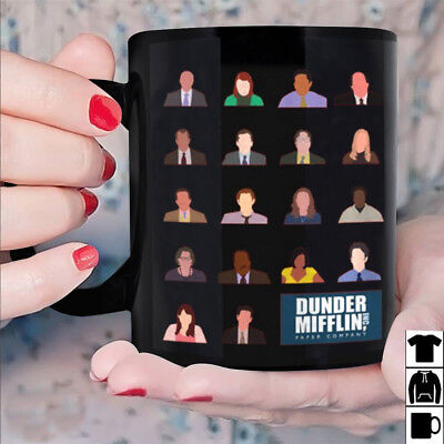The Office Dunder Mifflin Paper Company Mug Black Ceramic 11oz Coffee Tea Cup