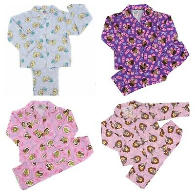 Girls Pyjamas Ages Doc McStuffin Sofia Traditional Button Up 12 Month to 2 Years