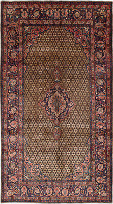 "Hand-knotted Persian 5'1"" x 9'1"" Koliai Traditional Wool Rug"