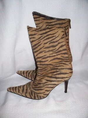 649fe077c3387b VERO CUOIO ANIMAL Print Pointed Toe Heeled Boots Size 38.5 -  20.00 ...