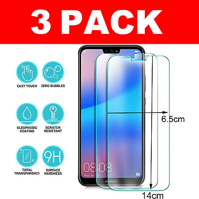 3 Pack Genuine Tempered Protective Glass Screen Protector For Huawei Phones
