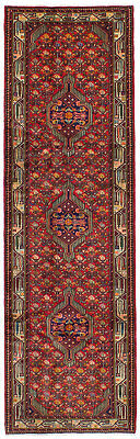 "Hand-knotted Roodbar Red Wool Rug 2'9"" x 9'3"""