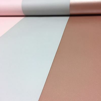 Direct Wallpapers Stripe Wallpaper Metallic - E40903 Rose Gold / Grey / Pink