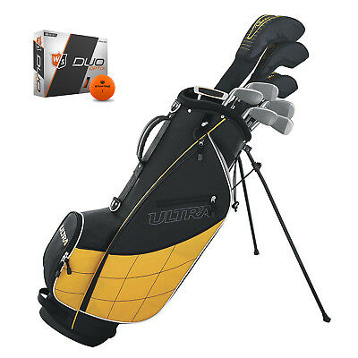 Wilson Ultra Men's Complete 13 Piece Right Handed Golf Club Set with Bag & Balls