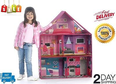 Pacific-Bungalow-Dollhouse-with-14-Accessories-by-KidKraft NEW