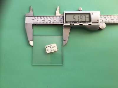 Square Bevelled Edge, Flat Clock Glass 52mm (2 1/16 Inch), NOS