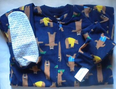 95f0fc0ba NWT CARTERS BOYS FLEECE PAJAMAS FOOTED BLANKET SLEEPER 24 months ...