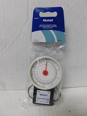 Mustad 50lb MSTD-52A Dial Fish Scale With Tape Measure