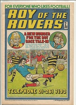 Vintage Roy Of The Rovers Comic dated 5th February, 1977