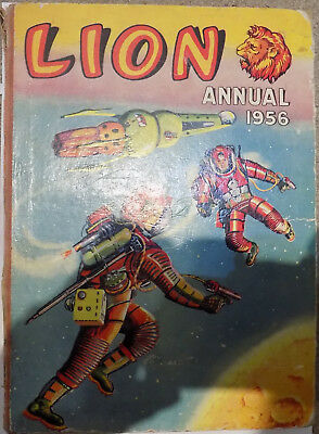 Vintage Lion Annual 1956. Published By Fleetway