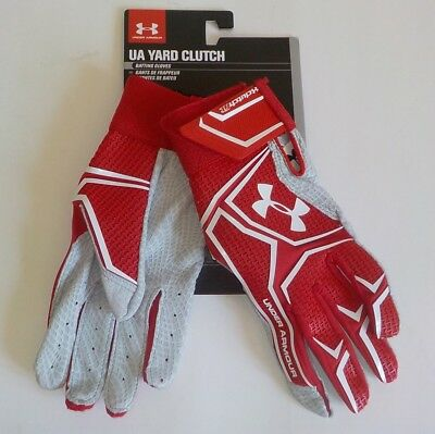 Under Armour YARD CLUTCH Batting Gloves 1265933 600 Adult SMALL Fast Ship